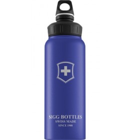 Sigg Wide Mouth Bottle Swiss Emblem Blue Touch 1000 ML