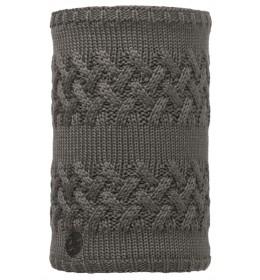 Buff Knitted & Polar Neckwarmer Savva Grey Castlerock