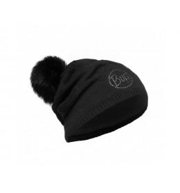 Buff Knitted & Polar Hat Stella Black Chic