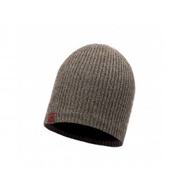 Buff Knitted & Polar Hat Lyne Brown Taupe