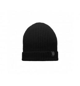 Buff Knitted Hat Basic Black
