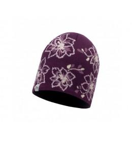 Buff Knitted & Polar Hat Allie Purple Dewberry