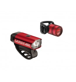 LEZYNE HECTO DRIVE 400XL/FEMTO 7 LM PAIR RED