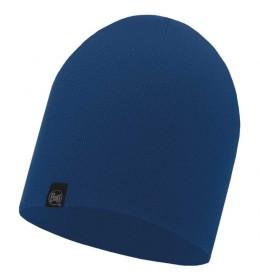 Buff Knitted Hat Dark Denim